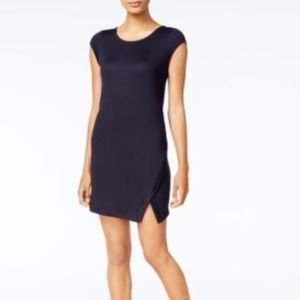 NWT Kensie Navy Front Split Dress
